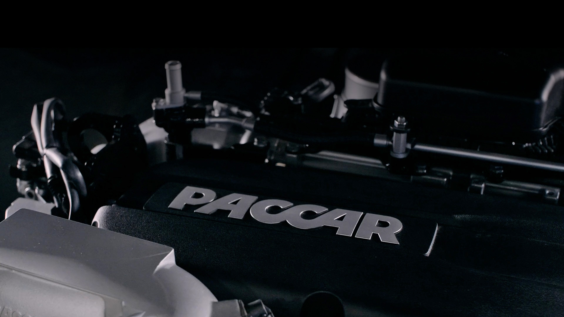 Closeup of Paccar part engine